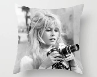 Brigitte Bardot Decorative Pillow, Square pillow with\ without zipper