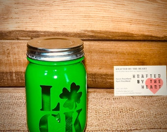 Luck of the Irish mason jar