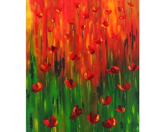 Painting, painting, painting poppy painting poppy painting knife, loss of poppies