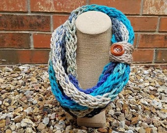 Hand Knitted Infinity Scarf - Kids