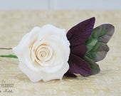Bridal Hair Pins, Wedding Hair Pins, Bridal Hair Accessories,Purple hair pin, Boho rustic wedding, Bridal Hair Pin,  Rose hair pin