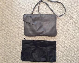 Lot of 2 - Vintage clutch shoulder bag convertible purse