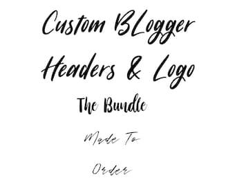 Customized Blog Header & Logo - The Bundle