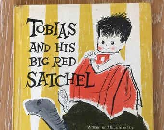 Tobias and His Big Red Satchel by Sunny B. Warner vintage collectible