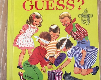 Can You Guess vintage Romper Room Book by Leonore Klein illustrated by Ruth Wood 1953