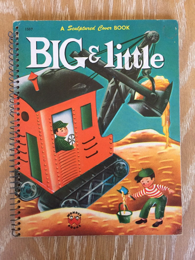 Big and Little Wonder Book Sculptured Cover Book 1954 by John Hull vintage