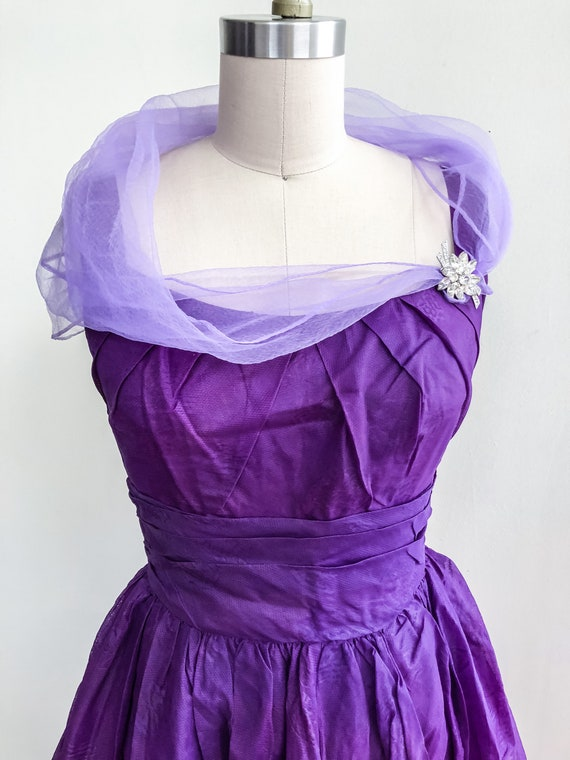 Vintage Purple Cocktail Dress - No Designer Label