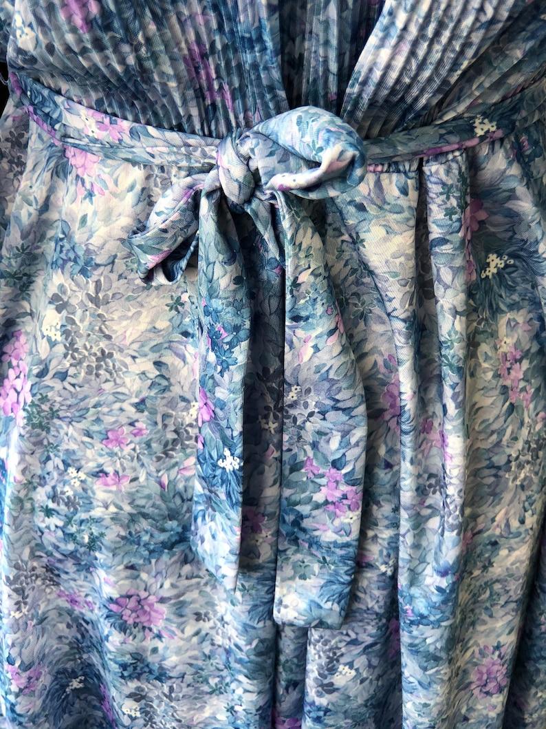 Vintage 1980s Floral Day Dress Size 14