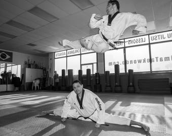 Tae Kwon Do Jump Side kick