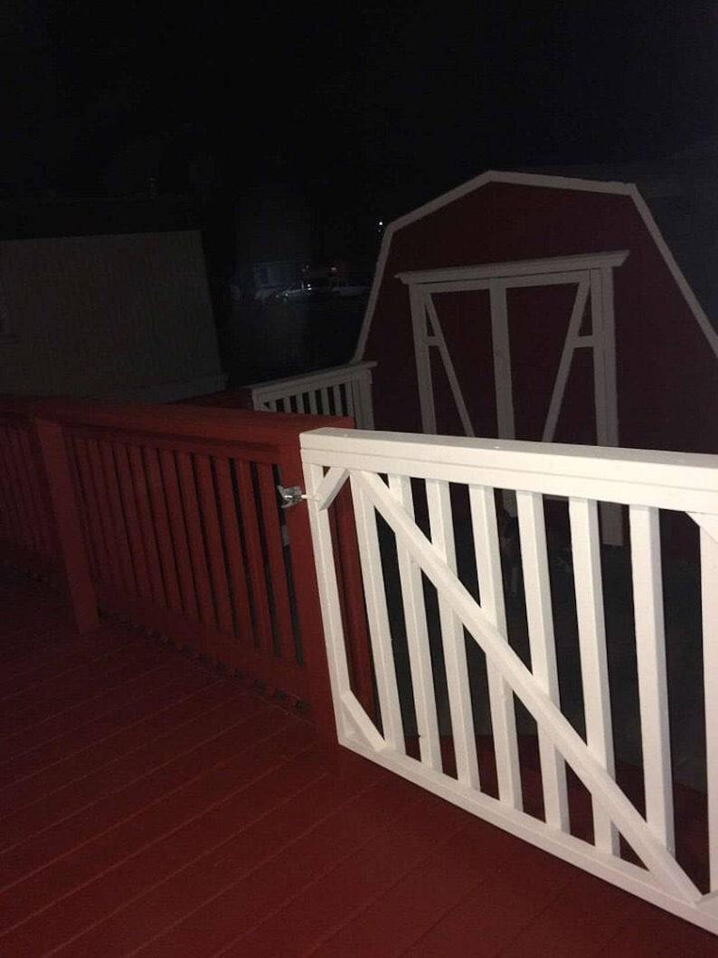 Latching Swing Gate - Patio/Deck Gate - Pet Barrier Gate - Child Safety  Gate - Garden Gate