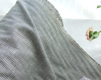 """Houndstooth fabric by the yard, French vintage pied de poule, destash clearance, mid weight polyester jacket skirt trousers decor, 62"""" 157cm"""