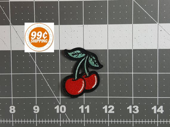 CHERRIES Patch 15 X 2 99 S H Iron Or Sew