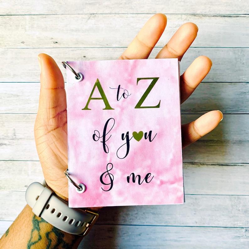 A to Z book  Mini Album  A to Z of You and Me  Mini Photo image 0