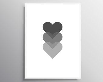heart wall art etsy