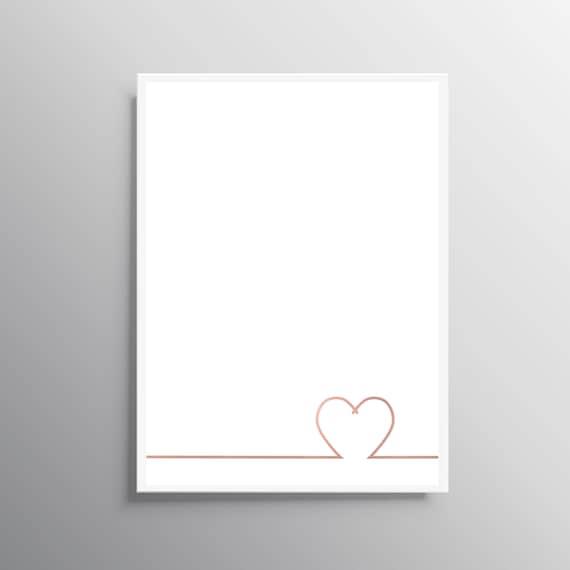 Love Wall Art Rose Gold Print Download Print Heart Wall Etsy