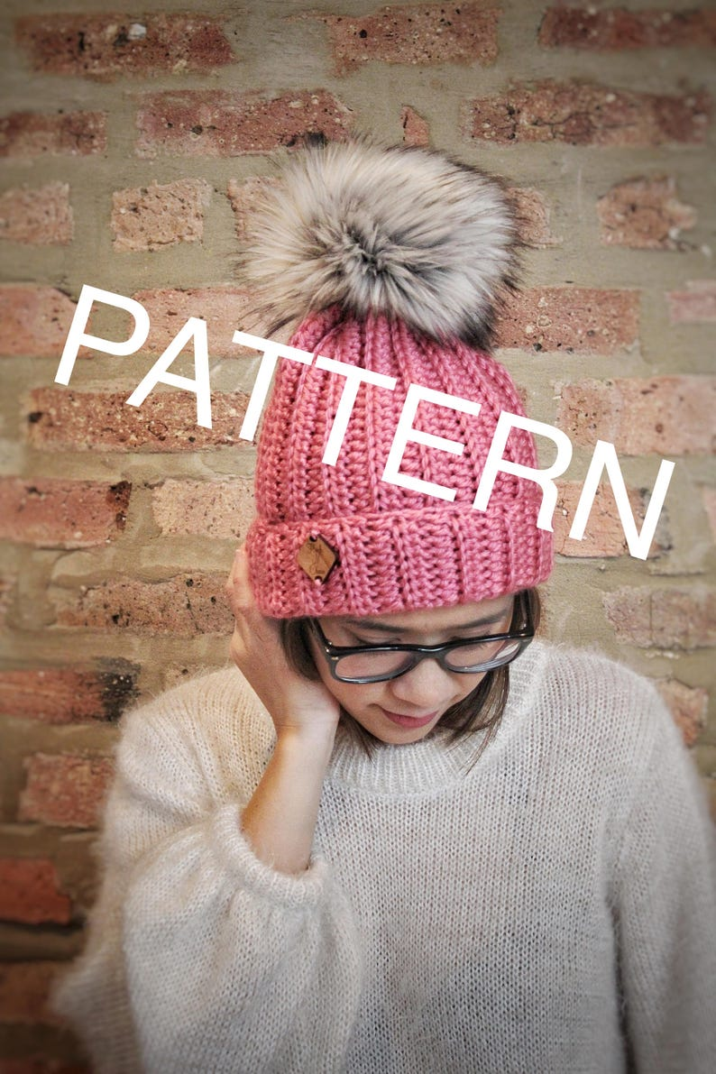 CROCHET PATTERN x Ribbed Beanie x The Parker Beanie Pattern  fb54ecbbf89