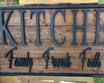 3D Kitchen Sign