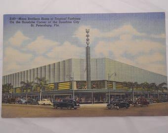 "Linen Postcard ""Maas Brothers Dept Store"""