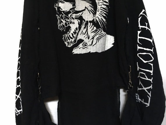 Rare!! Vintage The Exploited Punk Muslin Shirt Pu… - image 6