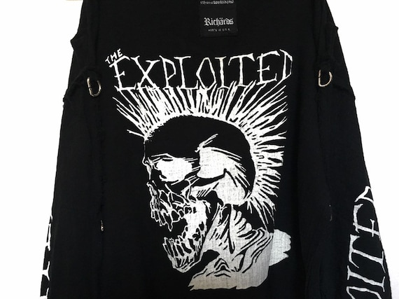 Rare!! Vintage The Exploited Punk Muslin Shirt Pu… - image 7