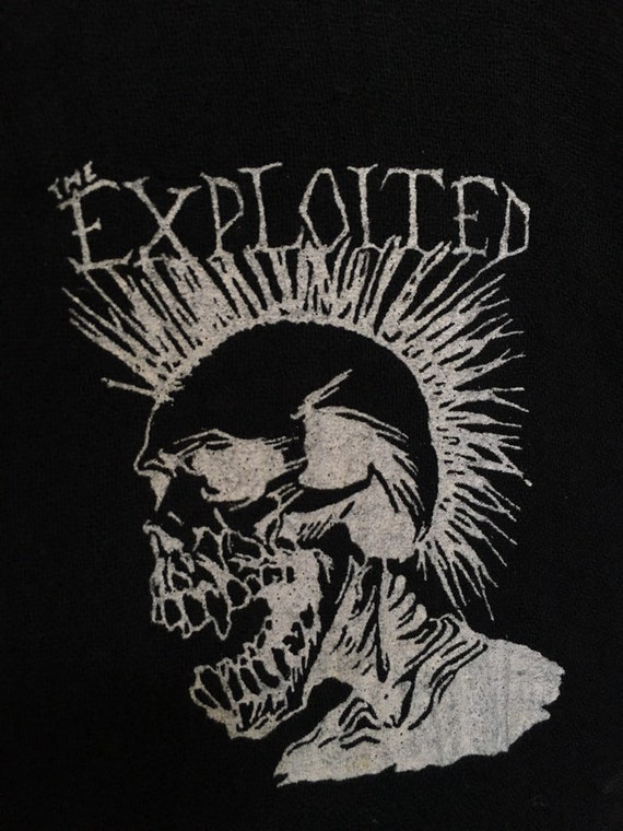 Rare!! Vintage The Exploited Punk Muslin Shirt Pu… - image 8
