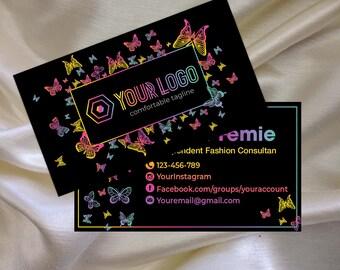 LLR KitCustom Business Card Butterfly Marketing Kit Branding For Consultant