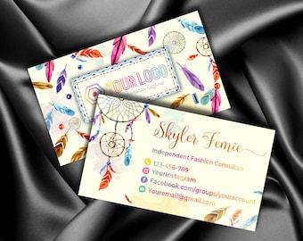LLR KitCustom Business Card Boho Marketing Kit Branding For Consultant