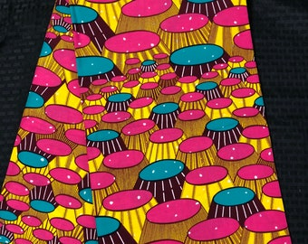 PIY14 african fabric per yard pink yellow bar stool banquet table African Wax print/ Ankara for Sewing Dress/ African hats/ art crafts/do