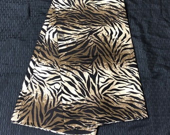African fabric per yard black beige zebra / african print/ African clothing/ African home decor/ ethnic print/ African material