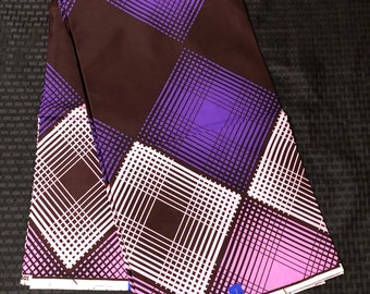 6 yards royal purple pink /white Geometric  Doll Cloth Ethnic Print/african fabric/ african home decor/ African Wax print/ Ankara