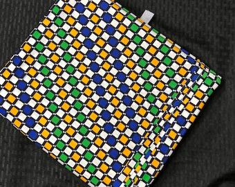 MC11 african fabric per yard  multicolor blue yellow green Design ankara/ african Material/ Cloth/ wrapper/Head tie