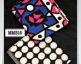 MM315 Black blue pink white african print bundle mix design ethnic print Mix and Match African Ankara Fabric Print 3 yards each