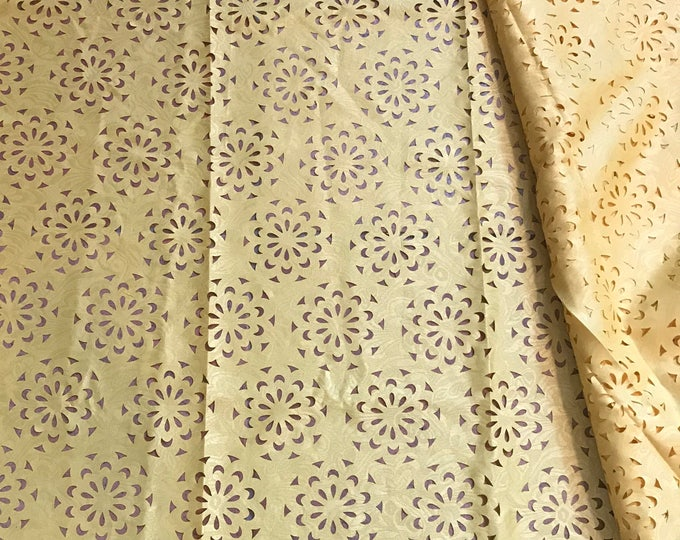 5 yards YellowLaser cut polyester lace/african Lace/ wedding decor Lace/ floral arrangement lace/ Sewing Dress Lace