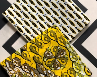 MM441 3 yards each white/yellow lips design African fabric/ African Print/ ankara/ african Material/ Doll Cloth/ ethnic print