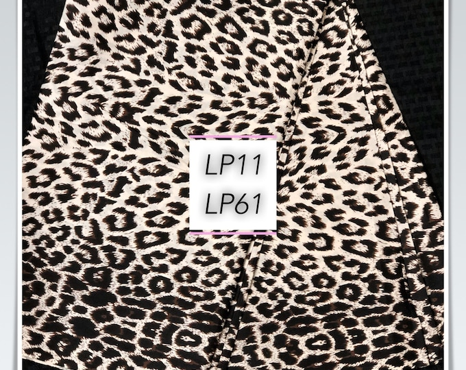 LP11 African fabric per yard black white leopard/ african print/ African clothing/ African home decor/ ethnic print/ African material