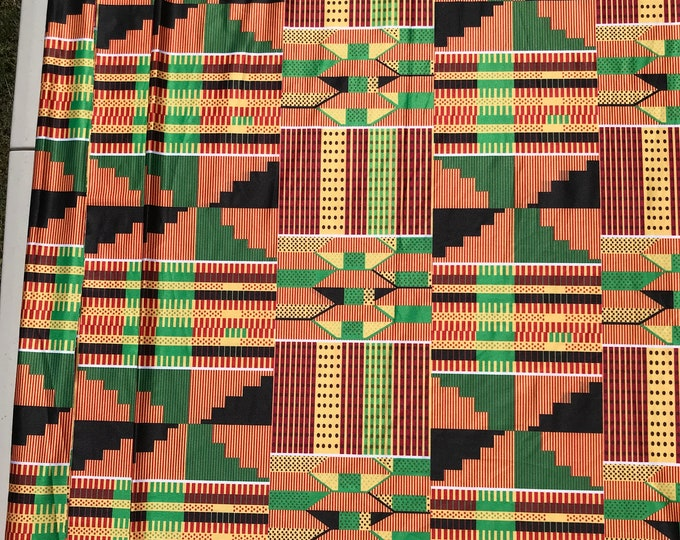 LY9 yard Kente Lycra Stretch African fabric print per yard african lycra Print for swimsuit/ Lycra african ethnic Print/ stretch fabric/yard