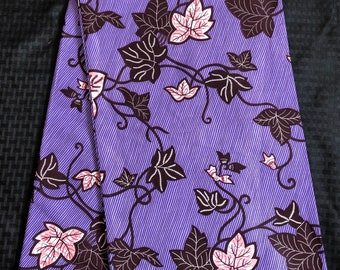 PP6 6 yards  purple pink leaf vine Felicia Doll Cloth Ethnic Print/african fabric/ african home decor/ African Wax print/ Ankara