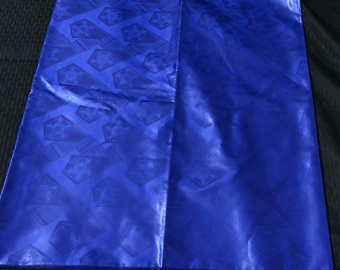 BB15 royal blue Bazin/ guinea brocade African fabric per yard solid Blue African Waxprint/ Ankara/ African Material/ cloth/ wrapper