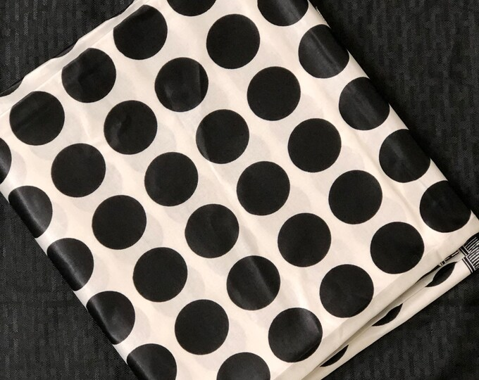 A6438 Gorgeous Waxy black and white polka dot African Fabric/African Wax print/ Ankara for Dress/ African cloth dolls/ African decor