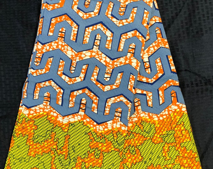 A1203 african material per yard green blue orange Kitenge  wholesale African fabric/Ankara