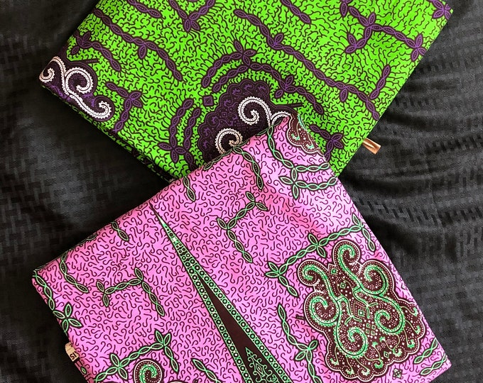 MM418 3 yards each Purple/ Green turtle  Mix and Match African Fabric/ African Wax print/ Ankara/ African Material/ African Cloth/ wrapper