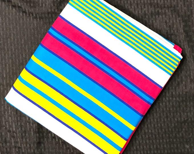 NK11 african fabric per yard Blue Pink yellow ghana northern kente African Wax print/ Ankara/ African Cloth/ Material/ Ghana/ Nigeria Fabric