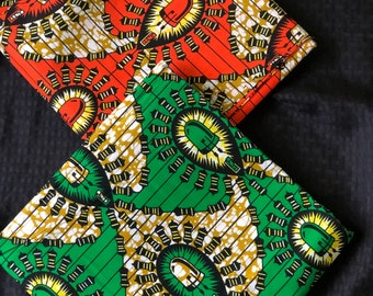 MM428 3 yards each green yellow/ orange green Mix and Match African Fabric/ African Wax print/ Ankara/ wrapper/ african Material