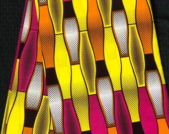 MC23 per yard pink yellow white lava lamp kitenge African Fabric/ African Wax print/ Ankara for Sewing Dress/ African hats/ art crafts/do