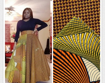 MM115 3 yards each  pairing mixed prints honeycomb Brown yellow Mix and Match African Fabric/ Wax print/ Material