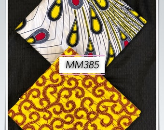 MM385 3 yards each Mix and Match red yellOW Macaroni rain drops African Fabric/ ankara/ african Wax Print/ ethnic print/ African Material/ D