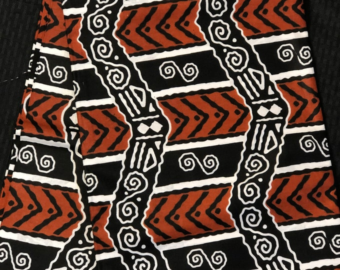 BRW11 African fabric per yard White/ brown/ mud cloth Kitenge African Wax print/ Ankara for Sew Dress/ African Art