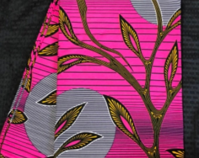 PIW1 per yard pink yellow white kitenge African Fabric/ African Wax print/ Ankara for Sewing Dress/ African hats/