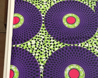 A667 Supreme green purple red  Nsubura /Disc /Record design African Fabric/ ankara print for special and non special occasion outfits