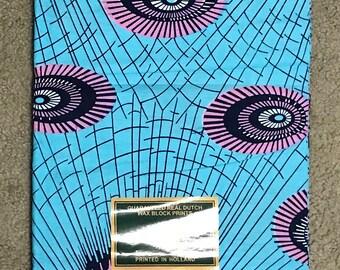 A6244 6 yards Pink/ Blue Vlisco African Fabric/ African Wax print/ Ankara